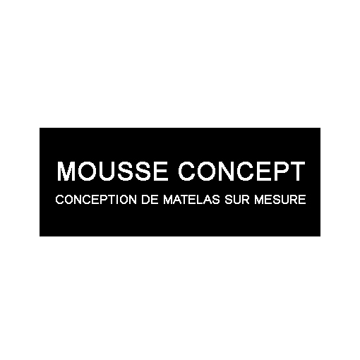 logo de mousse concept - comception de matelas mousse sur mesure